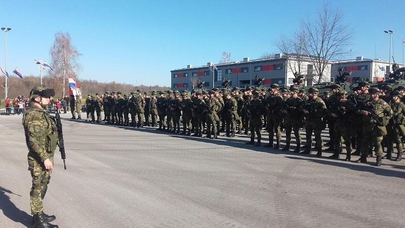 Ispraćaj pripadnika 1mb Tigrovi u Litvu
